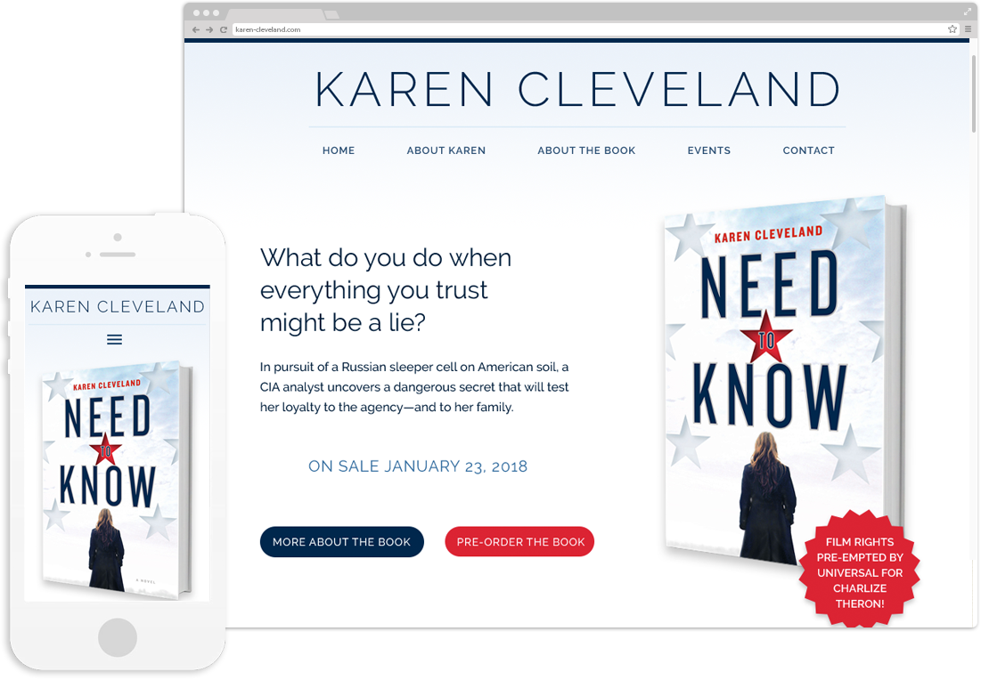 Author Karen Cleveland Website Design