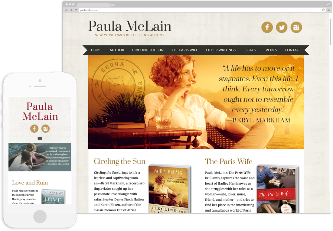 Author Paula McLain Website Design