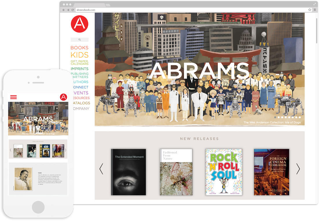 Website development for Abrams Books