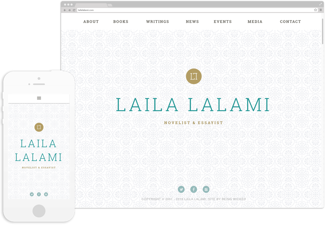 Laila Lalami Website Design displayed on desktop and mobile