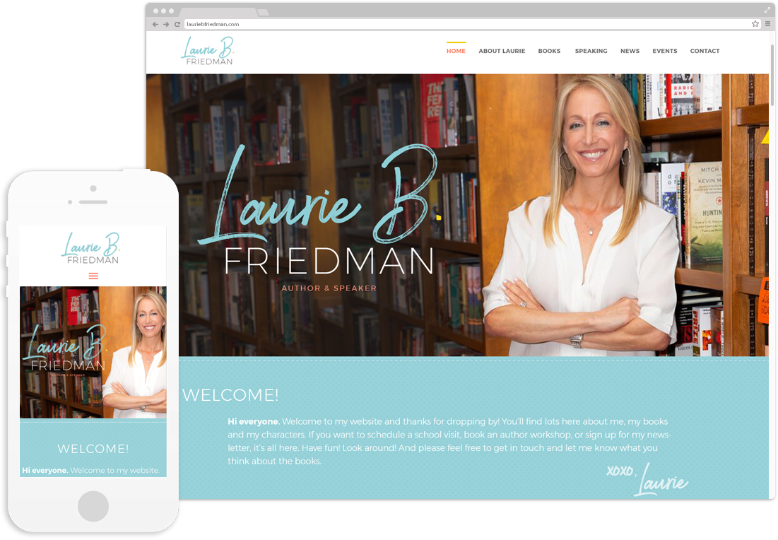 Author Laurie B. Friedman Website Design