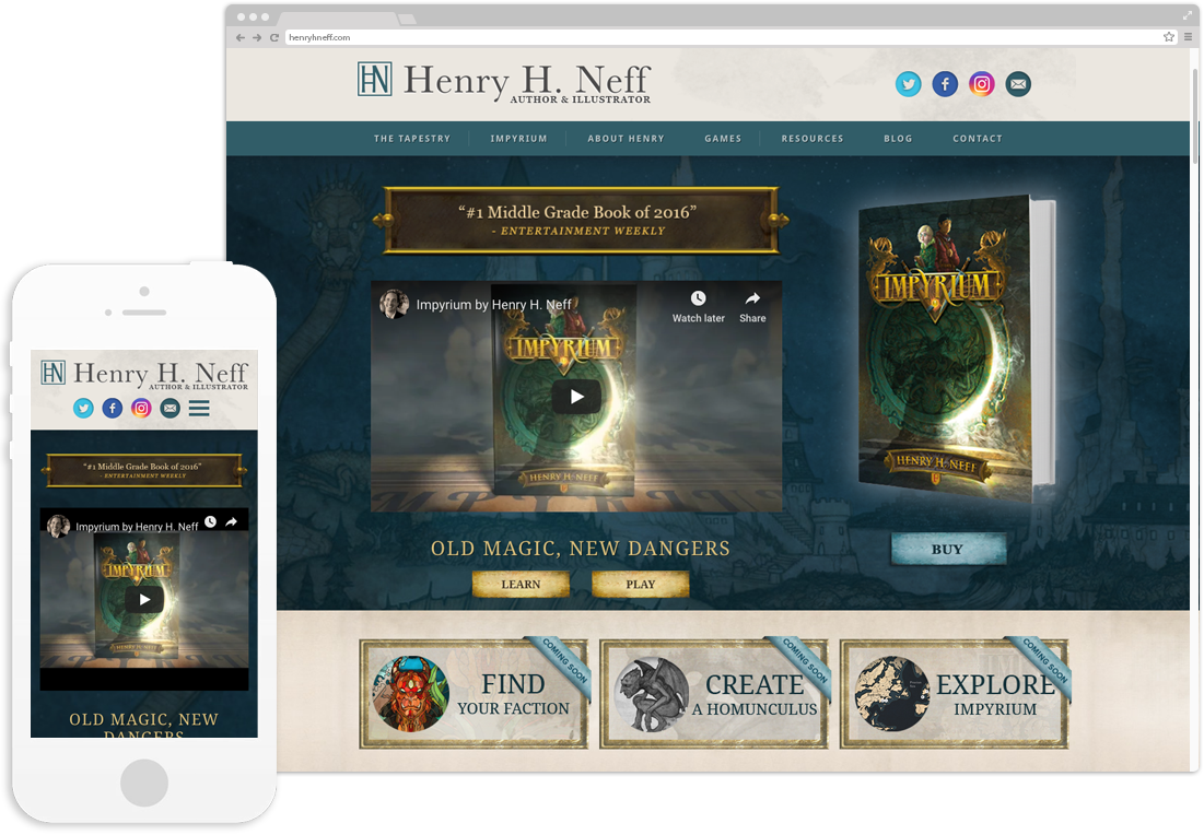 Henry H.Neff Website Design displayed on desktop and mobile